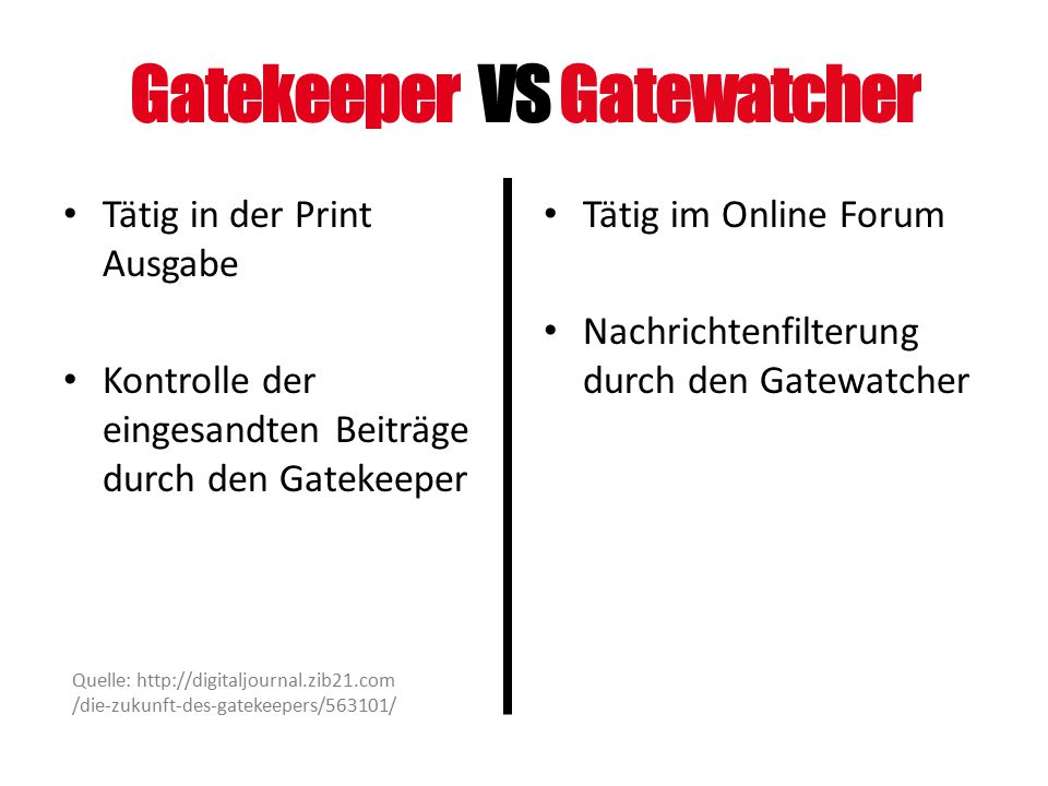 Gatekeeper VS Gatewatcher