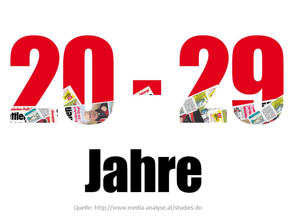 Jahre Quelle: http://www.media-analyse.at/studies.do