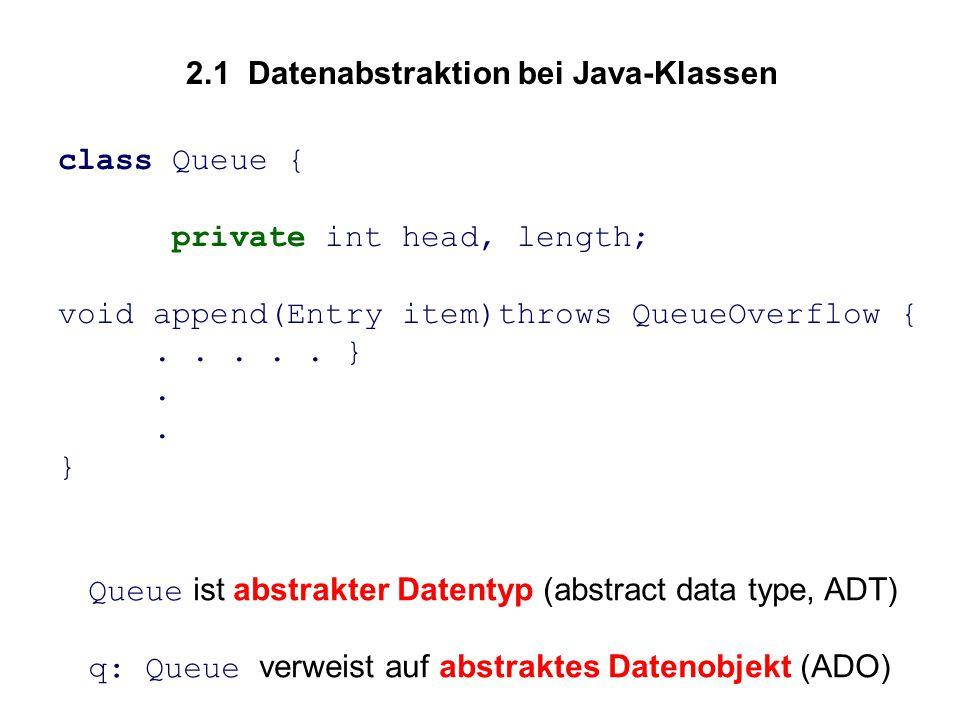 2.1 Datenabstraktion bei Java-Klassen