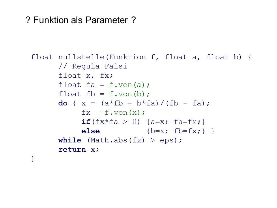 Funktion als Parameter