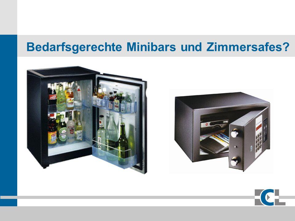 Bedarfsgerechte Minibars und Zimmersafes