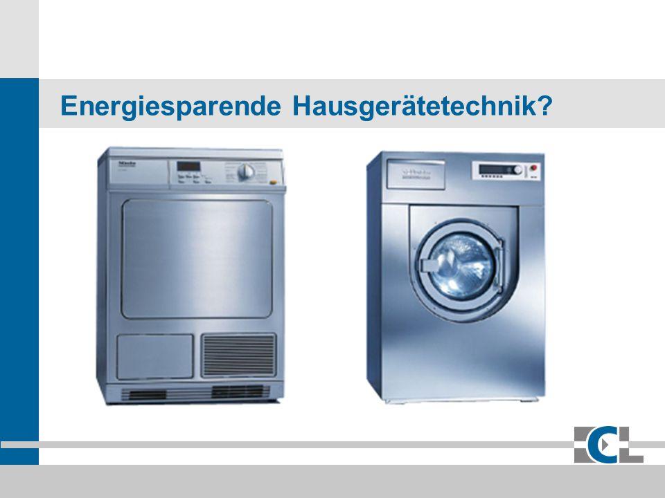 Energiesparende Hausgerätetechnik