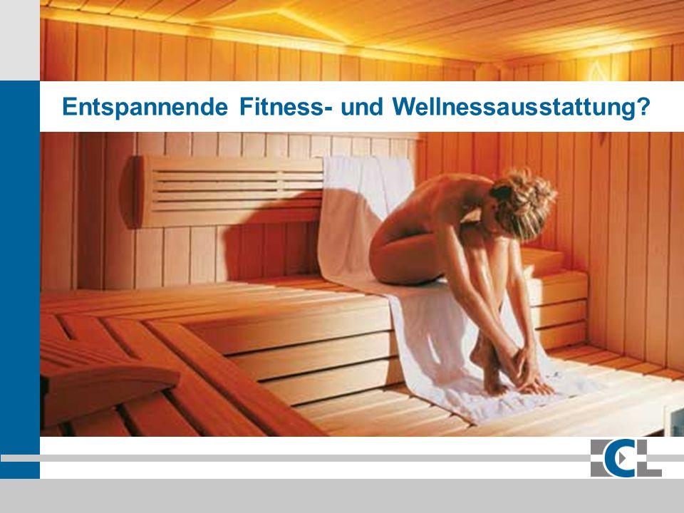 Entspannende Fitness- und Wellnessausstattung