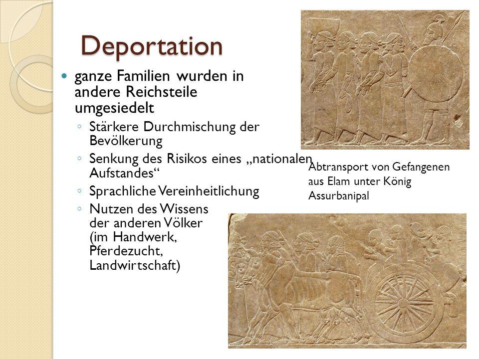 Deportation ganze Familien wurden in andere Reichsteile umgesiedelt