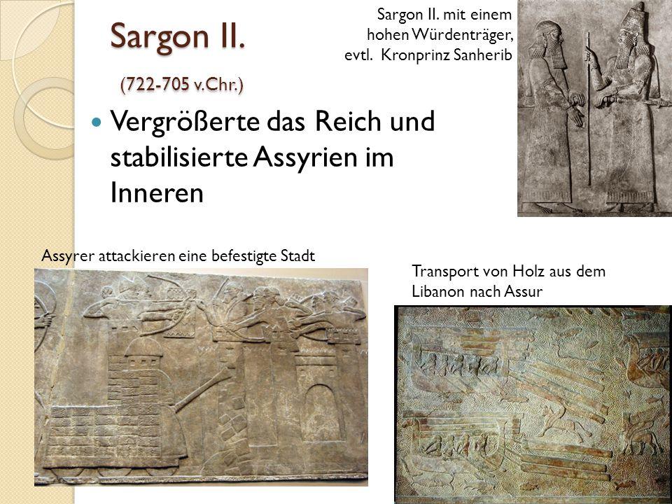 Sargon II. mit einem hohen Würdenträger, evtl. Kronprinz Sanherib
