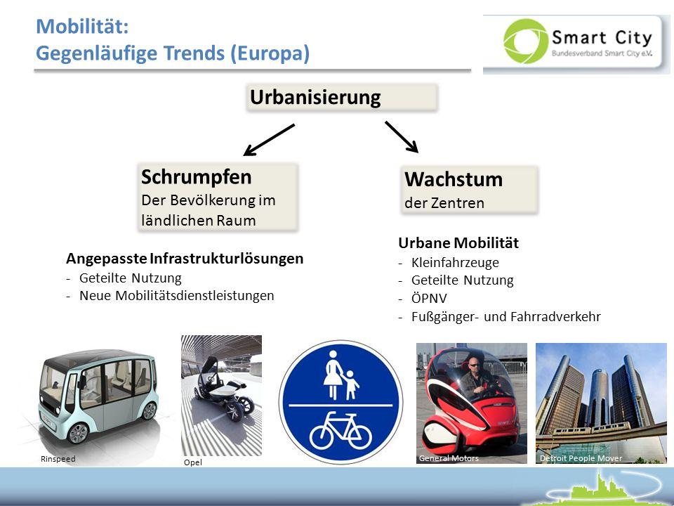 Mobilität: Gegenläufige Trends (Europa)