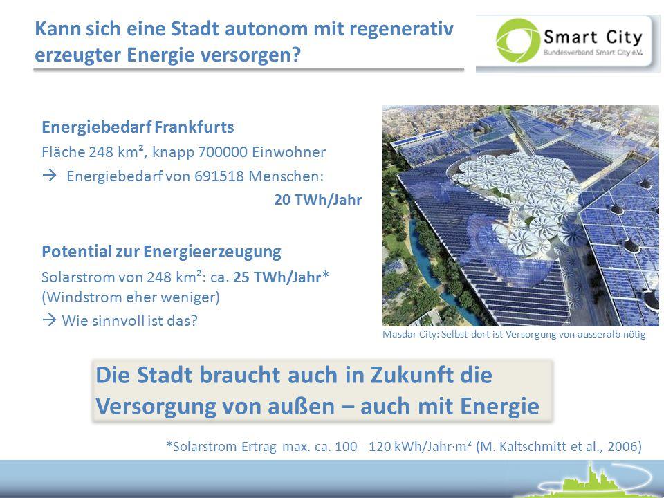 Kann sich eine Stadt autonom mit regenerativ erzeugter Energie versorgen