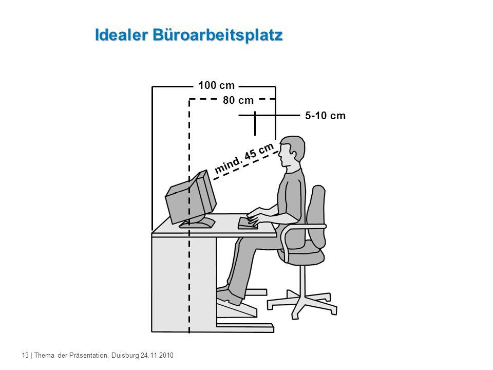Idealer Büroarbeitsplatz