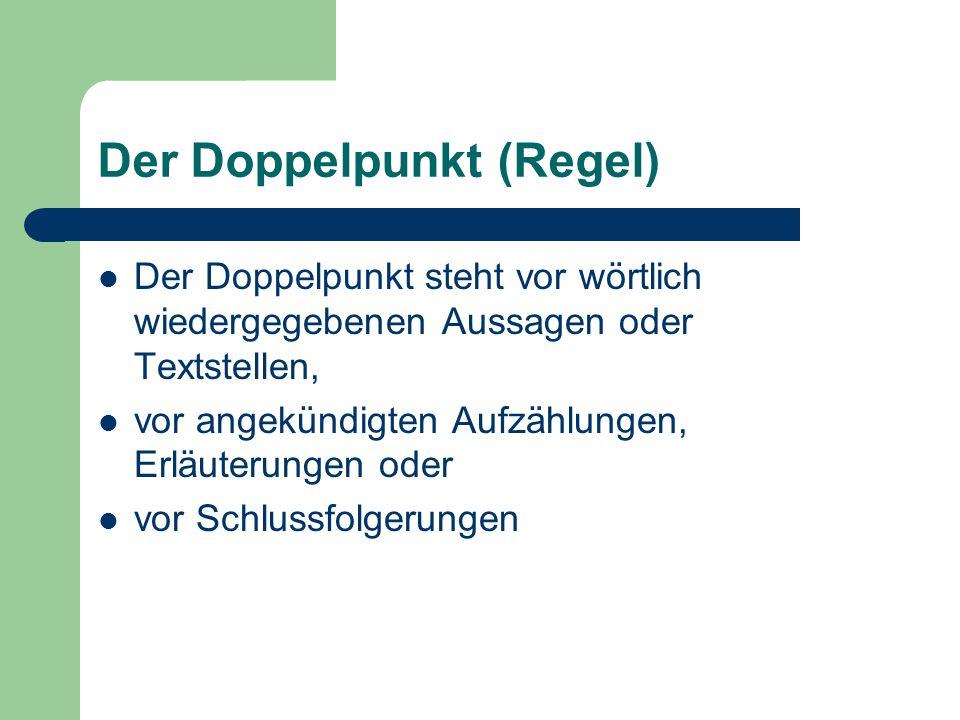 Der Doppelpunkt (Regel)