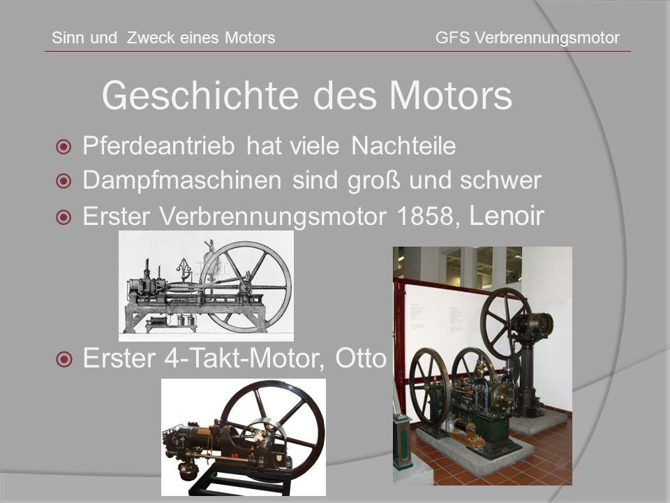 Geschichte des Motors Erster 4-Takt-Motor, Otto