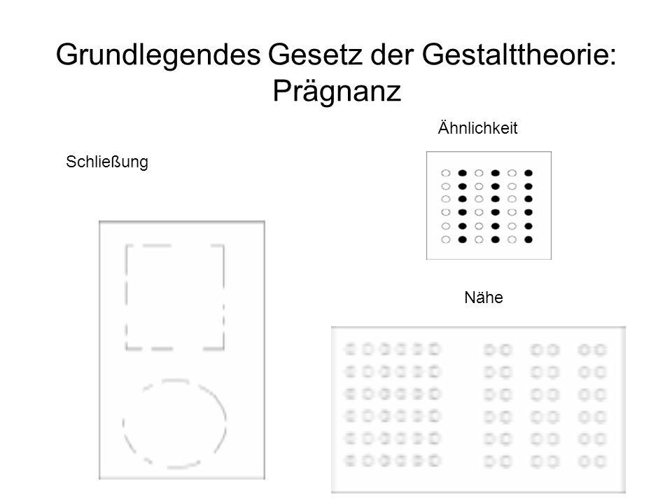 Grundlegendes Gesetz der Gestalttheorie: Prägnanz