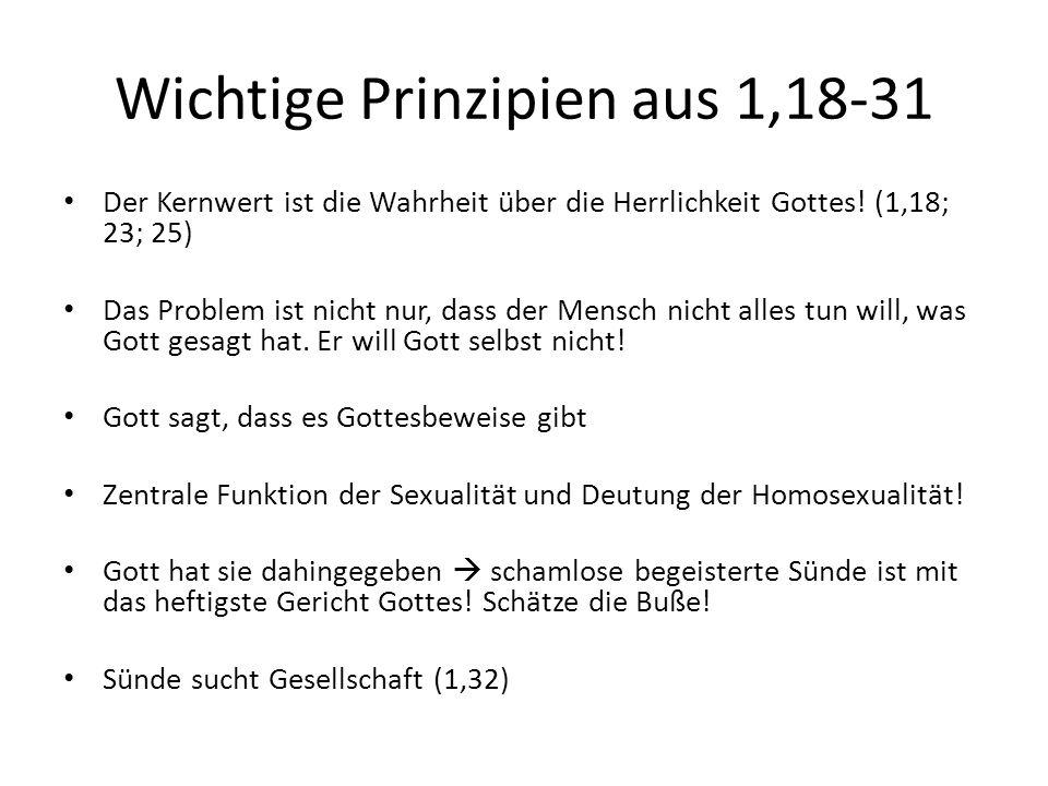 Wichtige Prinzipien aus 1,18-31