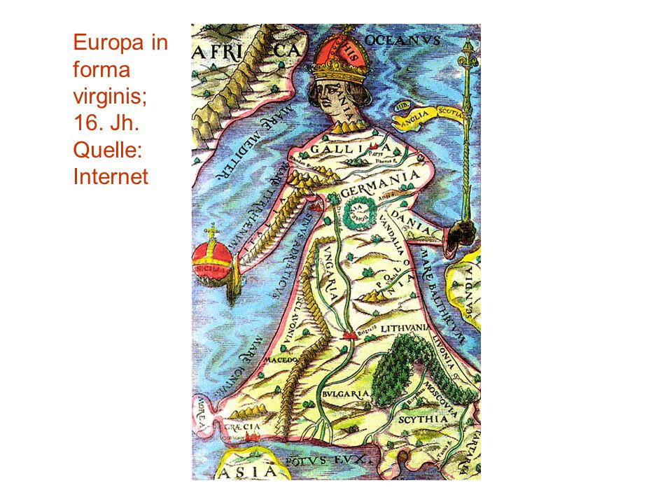 Europa in forma virginis; 16. Jh.