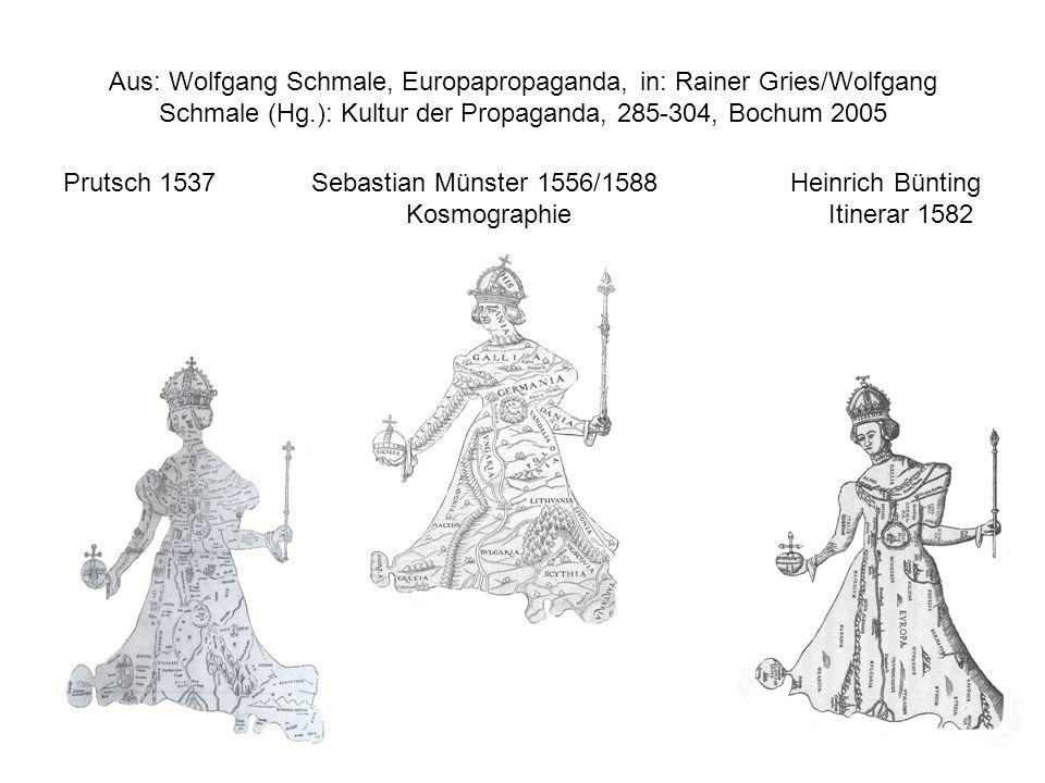 Aus: Wolfgang Schmale, Europapropaganda, in: Rainer Gries/Wolfgang Schmale (Hg.): Kultur der Propaganda, 285-304, Bochum 2005
