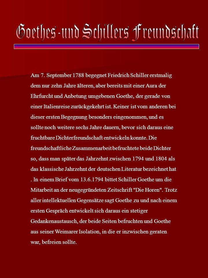 Goethes-und Schillers Freundschaft