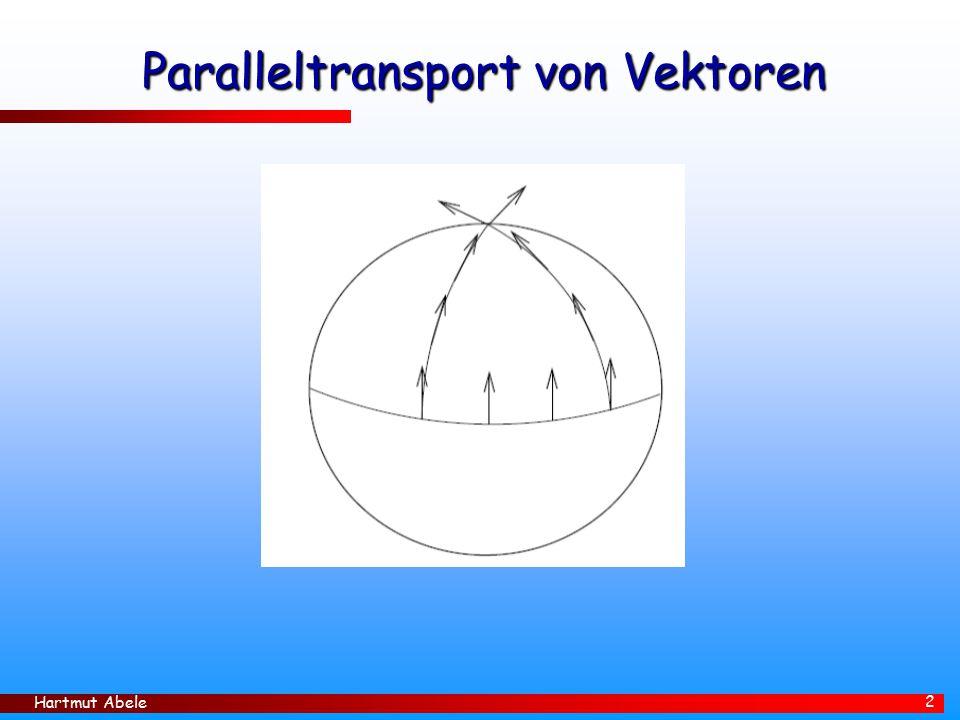 Paralleltransport von Vektoren