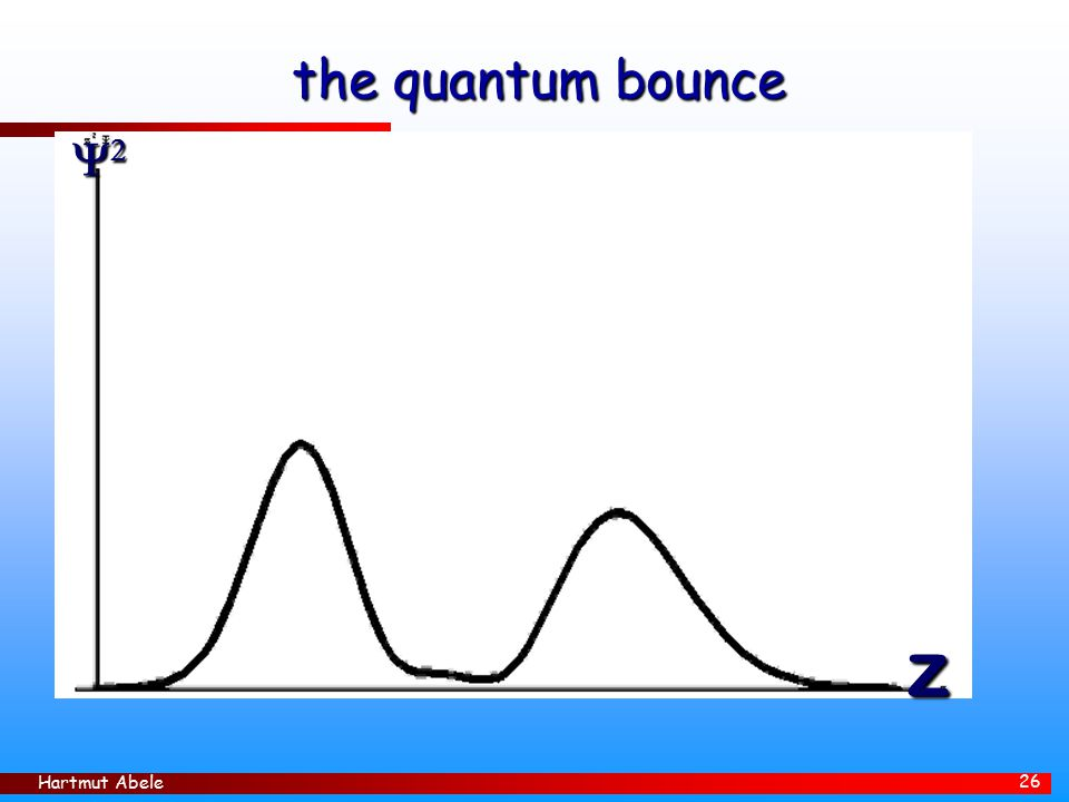 the quantum bounce 2 z Hartmut Abele