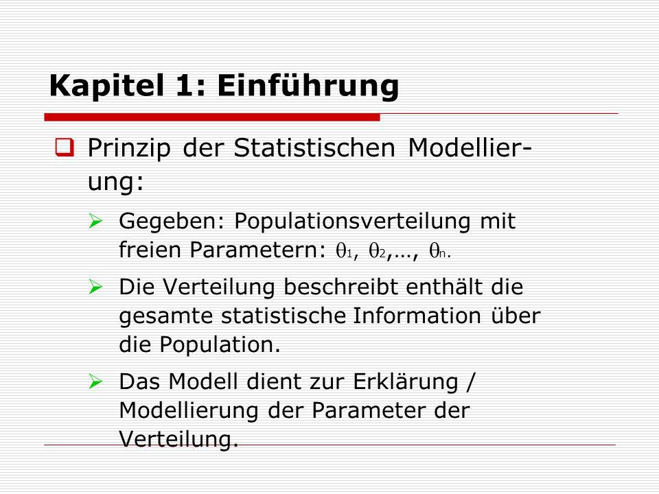 Kapitel 1: Einführung Prinzip der Statistischen Modellier-ung: