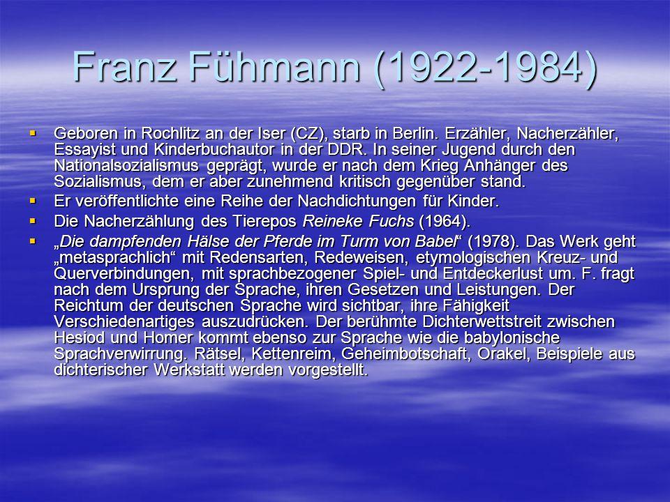 Franz Fühmann (1922-1984)