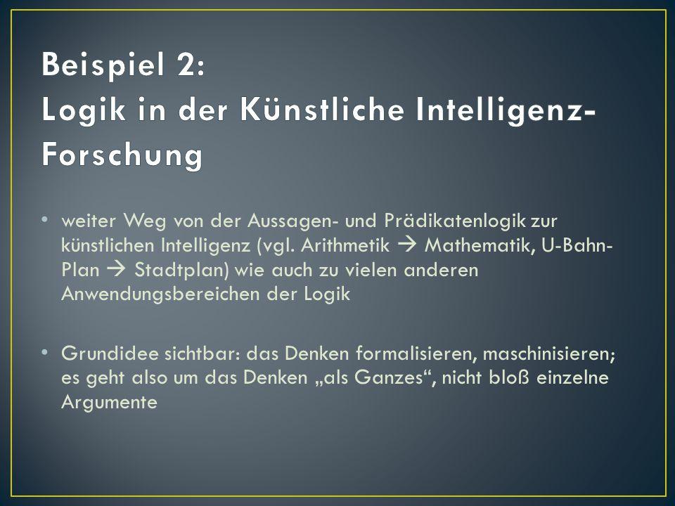 Beispiel 2: Logik in der Künstliche Intelligenz-Forschung