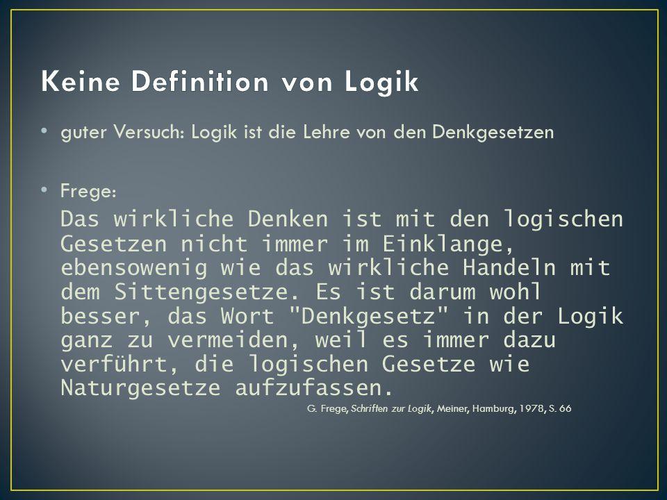 Keine Definition von Logik