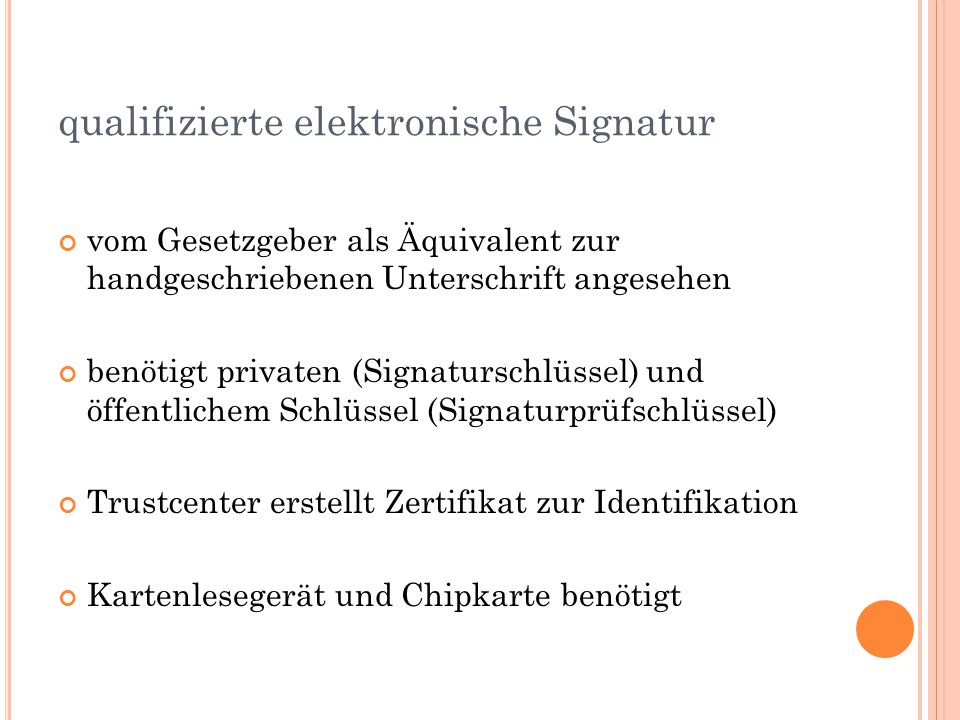 qualifizierte elektronische Signatur