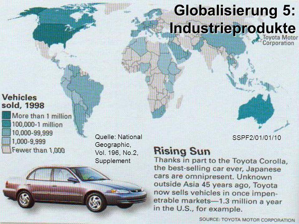Globalisierung 5: Industrieprodukte