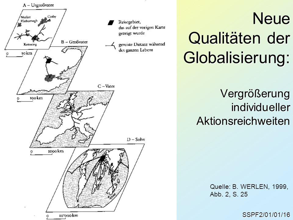 Neue Qualitäten der Globalisierung: Vergrößerung individueller Aktionsreichweiten