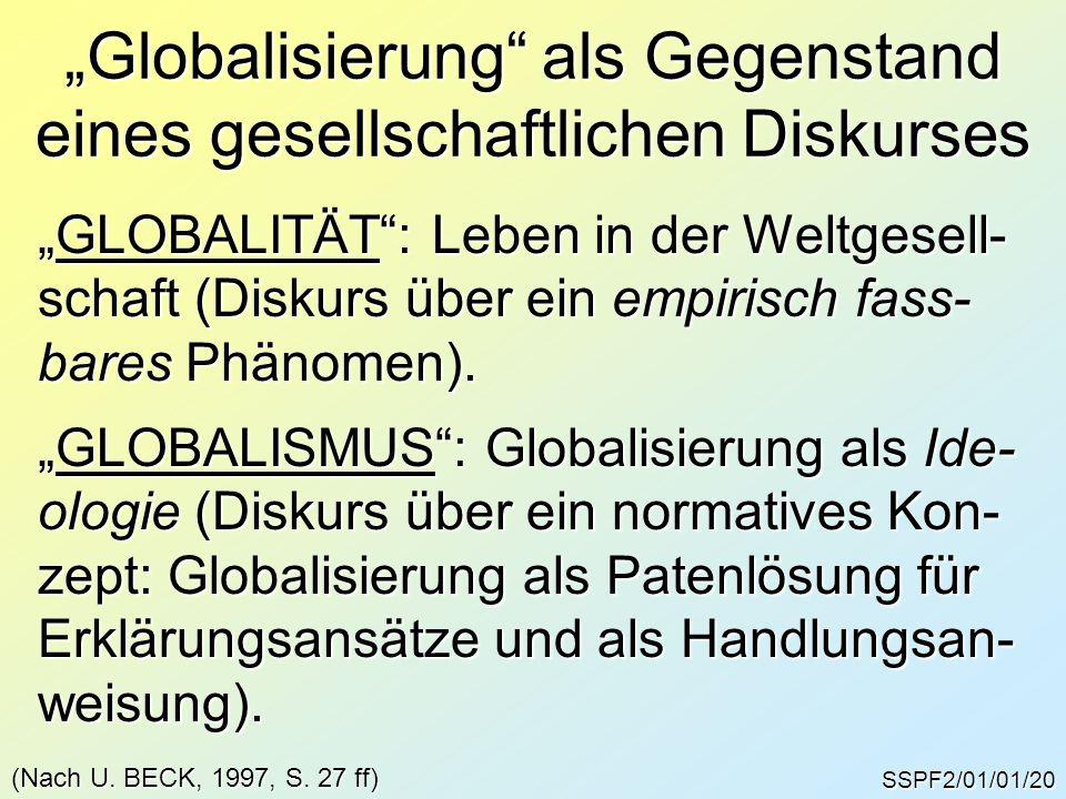 """""""Globalisierung als Gegenstand eines gesellschaftlichen Diskurses"""
