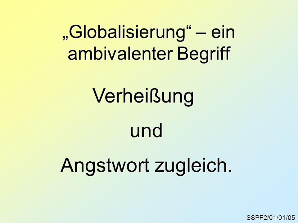 """""""Globalisierung – ein ambivalenter Begriff"""