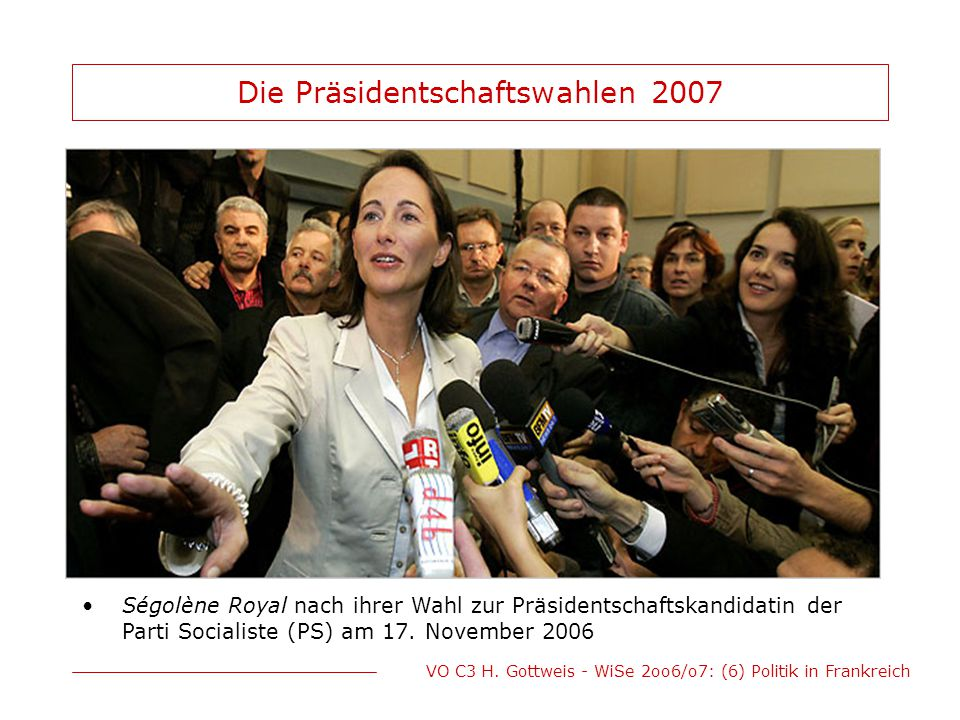 Die Präsidentschaftswahlen 2007