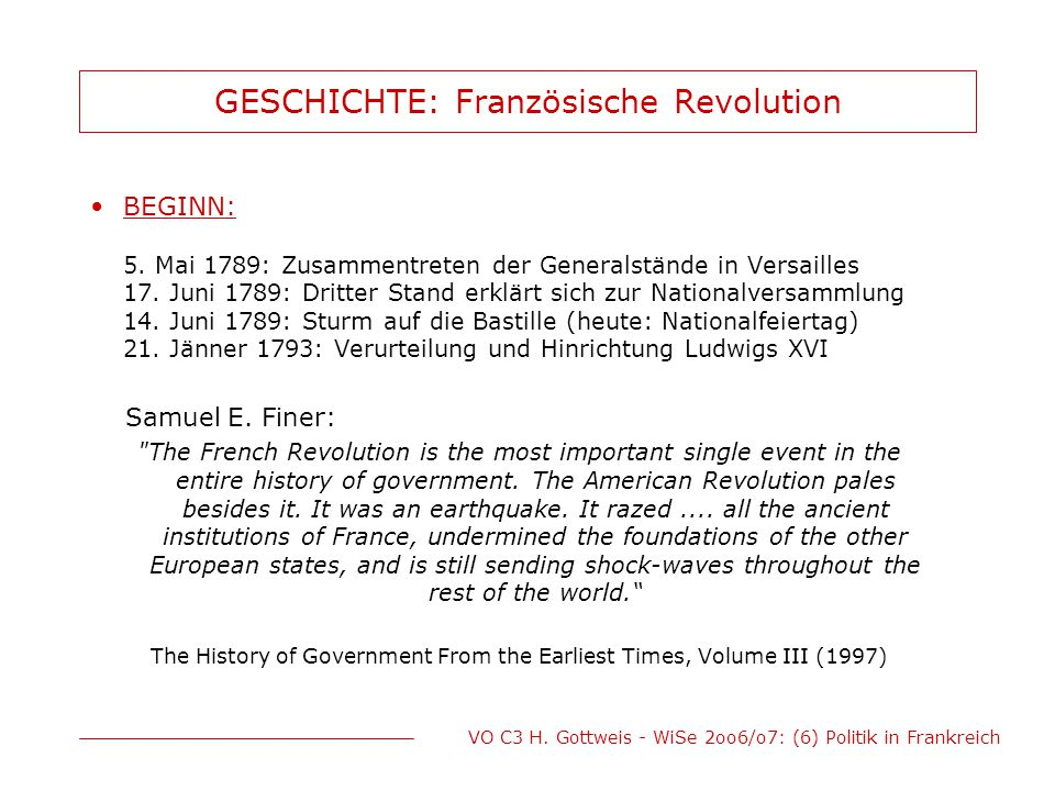 GESCHICHTE: Französische Revolution