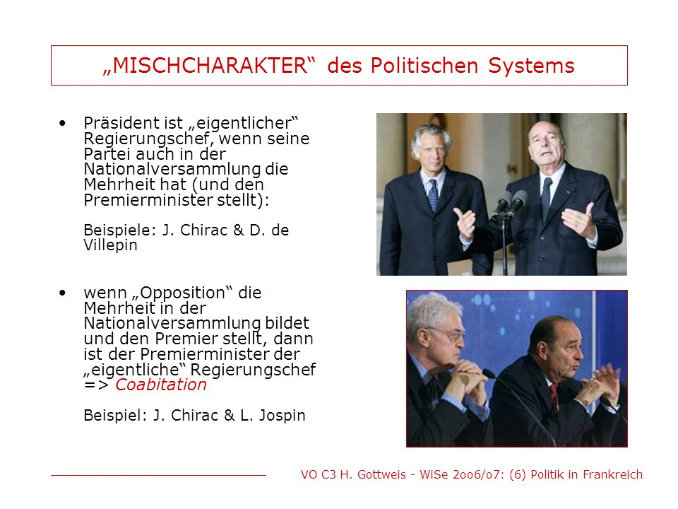 """MISCHCHARAKTER des Politischen Systems"