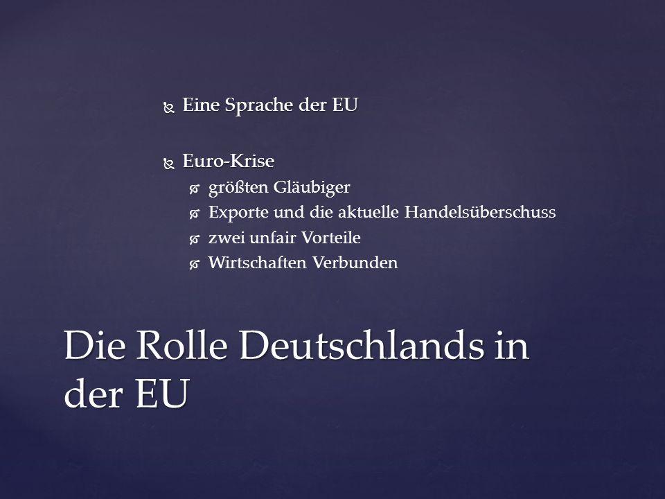 Die Rolle Deutschlands in der EU