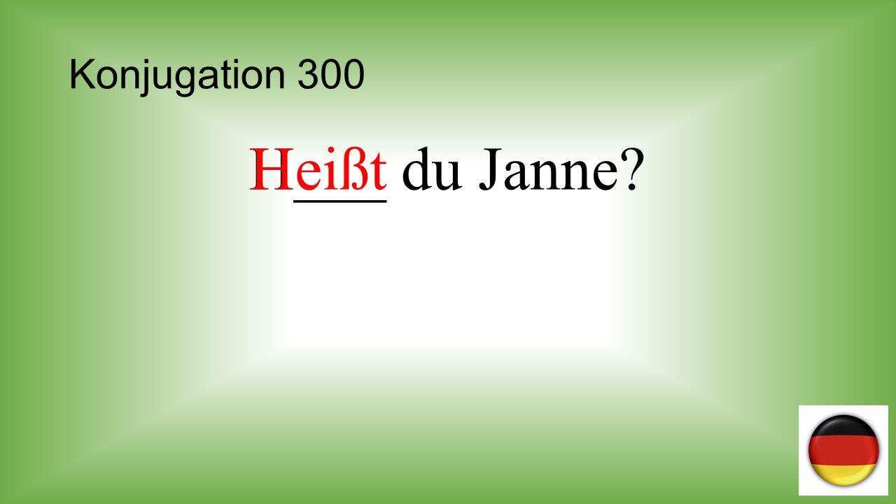 Konjugation 300 H___ du Janne Heißt
