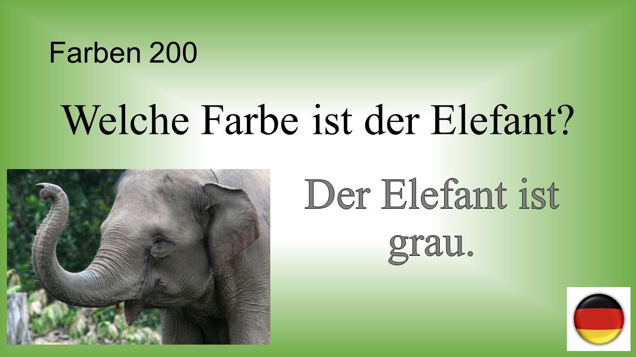 Welche Farbe ist der Elefant