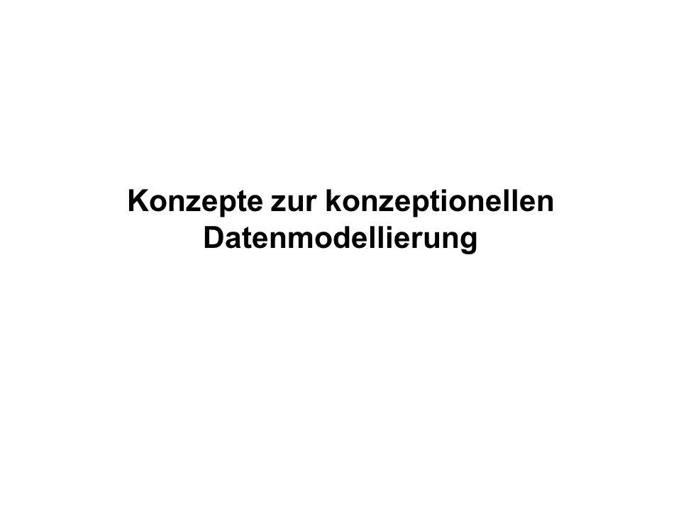 Konzepte zur konzeptionellen Datenmodellierung