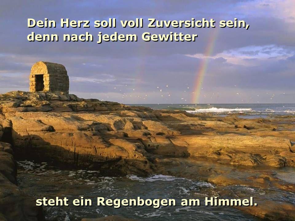 steht ein Regenbogen am Himmel. verteilt durch www.funmail2u.de