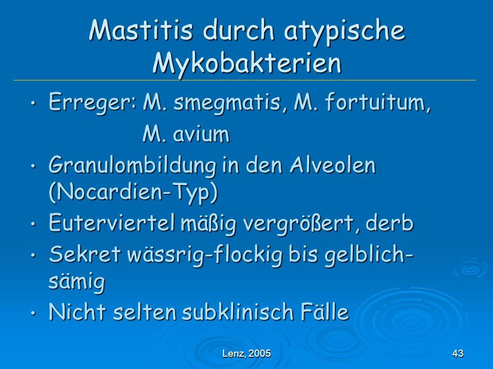 Mastitis durch atypische Mykobakterien