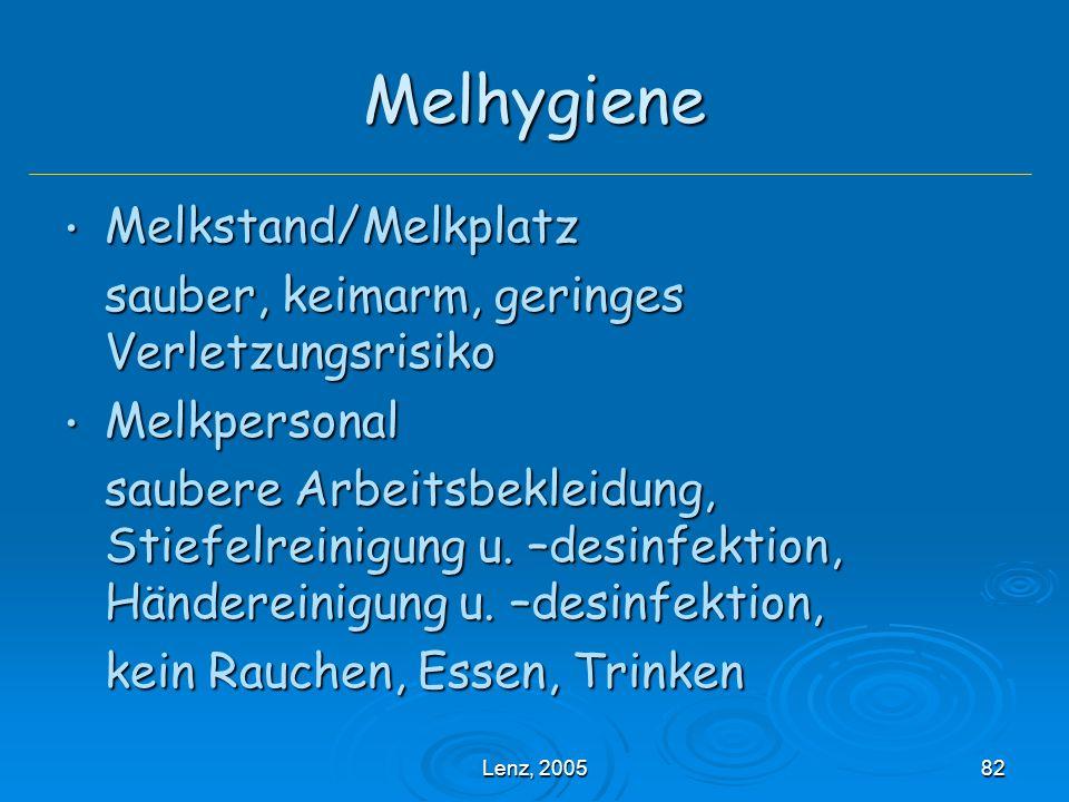 Melhygiene Melkstand/Melkplatz