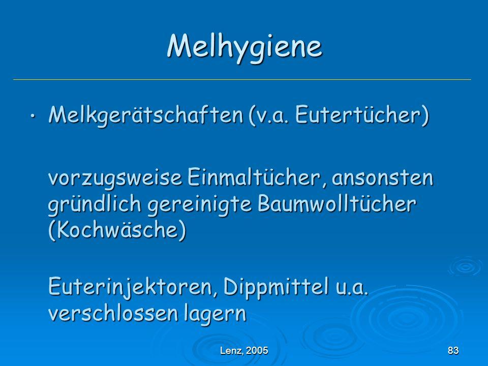 Melhygiene Melkgerätschaften (v.a. Eutertücher)