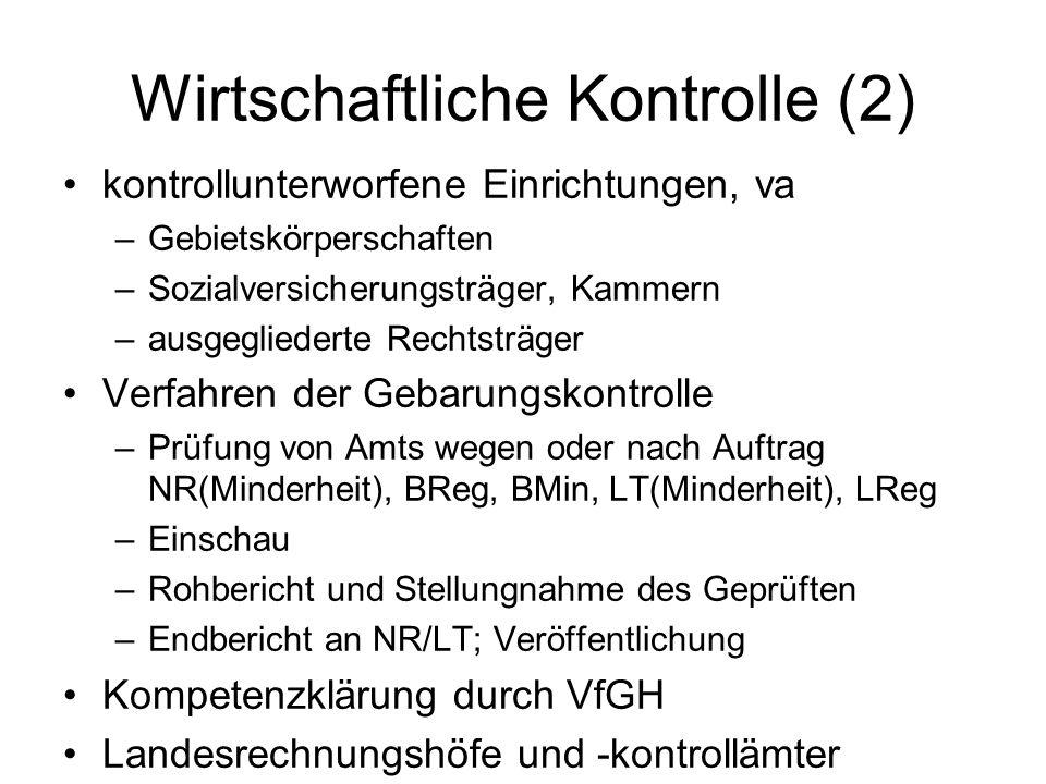 Wirtschaftliche Kontrolle (2)