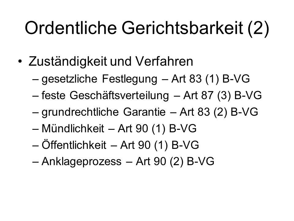 Ordentliche Gerichtsbarkeit (2)