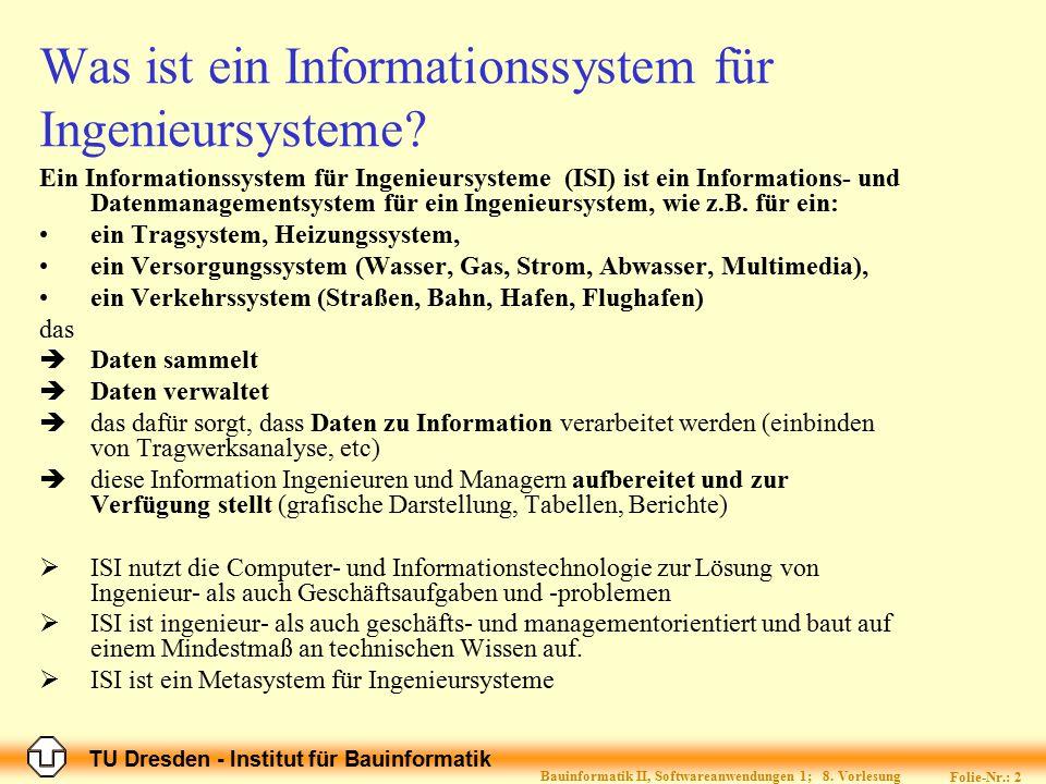 Was ist ein Informationssystem für Ingenieursysteme