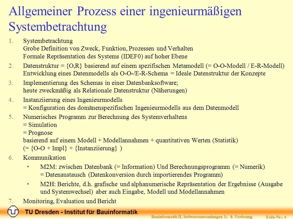 Allgemeiner Prozess einer ingenieurmäßigen Systembetrachtung