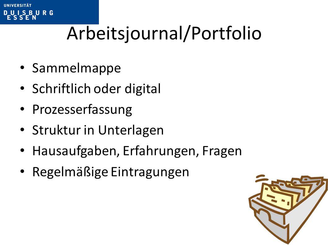 Arbeitsjournal/Portfolio