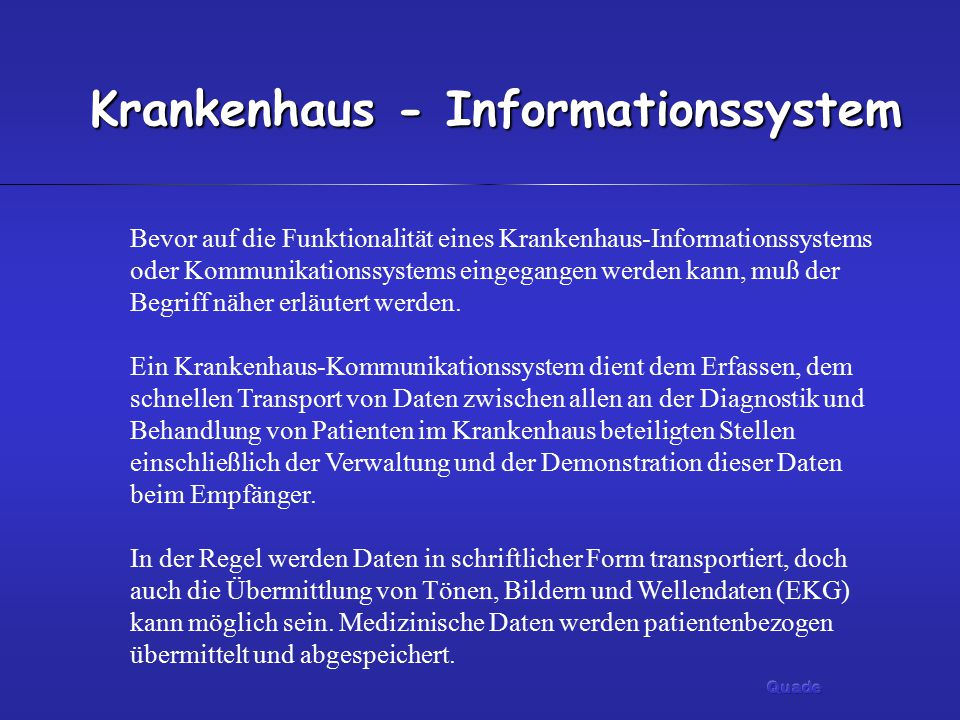 Krankenhaus - Informationssystem