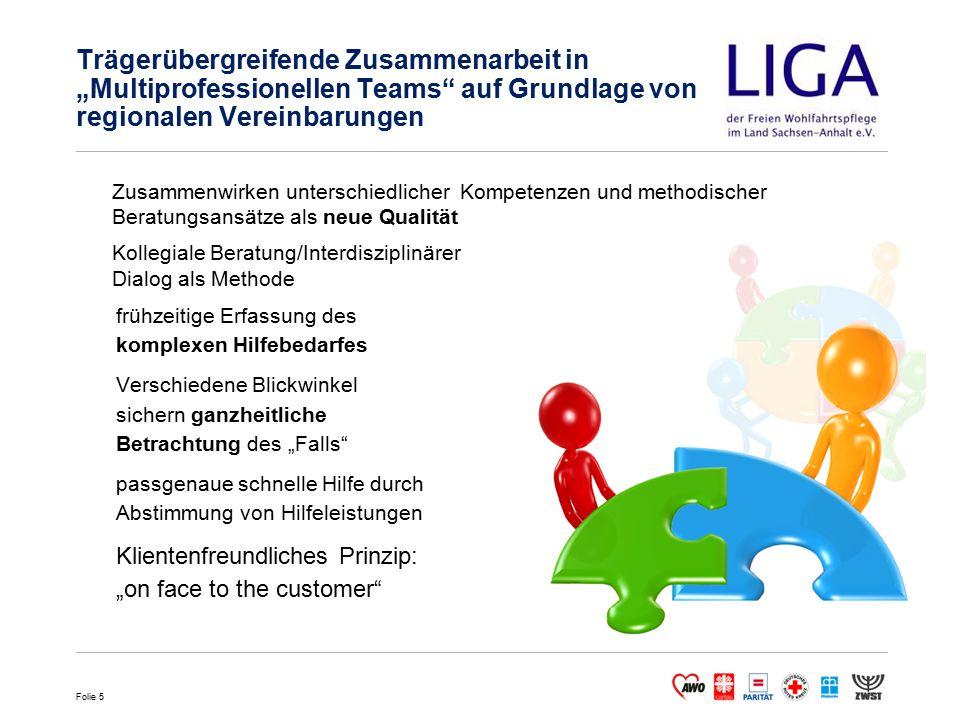 """Trägerübergreifende Zusammenarbeit in """"Multiprofessionellen Teams auf Grundlage von regionalen Vereinbarungen"""