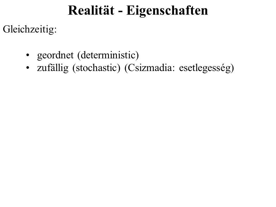 Realität - Eigenschaften