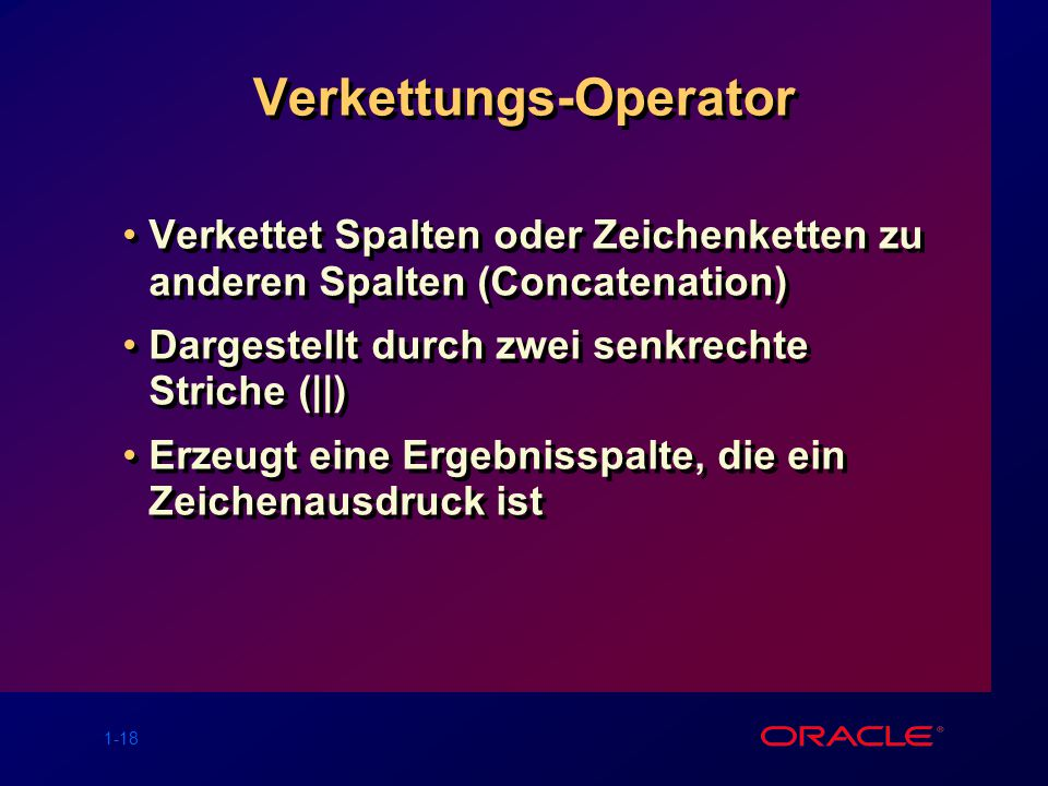 Verkettungs-Operator